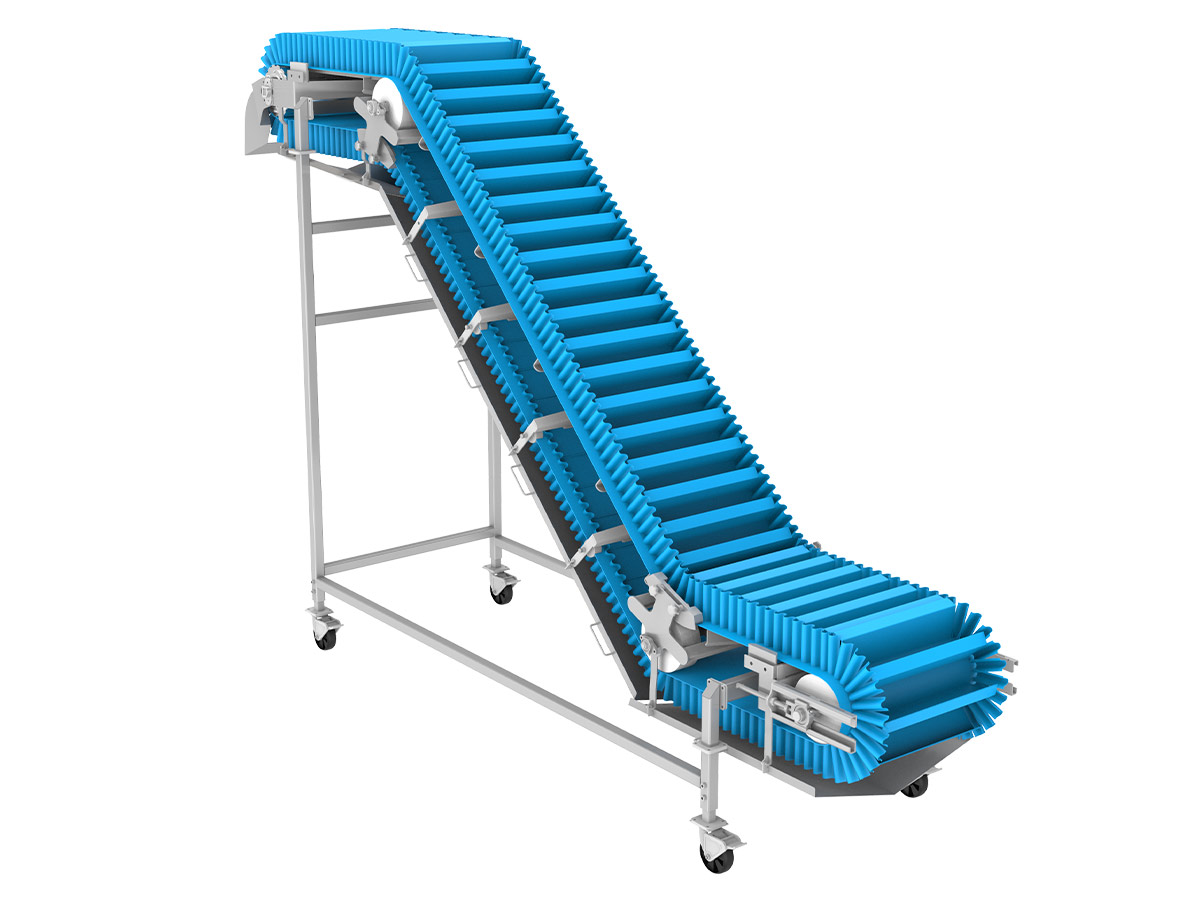 PPM Technologies - incline flighted conveying belt