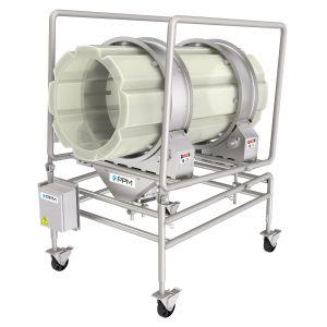 PPM Technologies - plastic seasoning and coating drum cradle frame