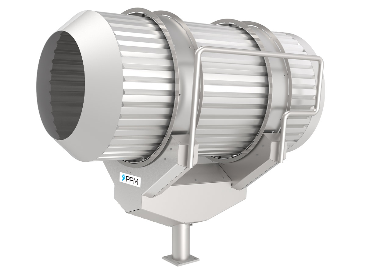 PPM Technologies - stainless steel drum on single pedestal