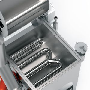 PPM Technologies - rotary gas heating option with fryer pan removed, detail photo
